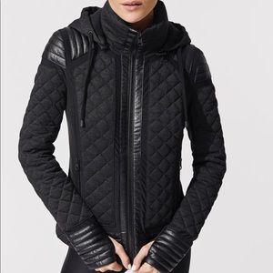 Blanc Noir Hooded Mesh Insert Moto Jacket XS